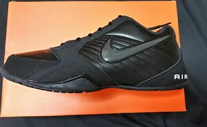 5274cf26f64a Nike Air Baseline Low Men s Basketball Shoe 386240 001 Black White ...