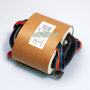 100w r core transformer for audio amplifier power amp selectable input outputs ebay. Black Bedroom Furniture Sets. Home Design Ideas