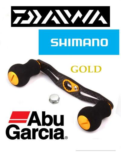 Shimano Daiwa Abu Garcia Gold Fibre De Carbone Baitcaster fishing reel Handle Kit