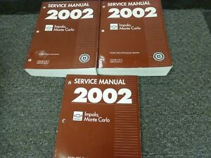 2002 chevy impala shop manual free download