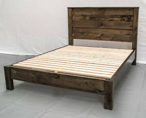 Image Is Loading Platform Bed Reclaimed Solid Wood Rustic Modern Style
