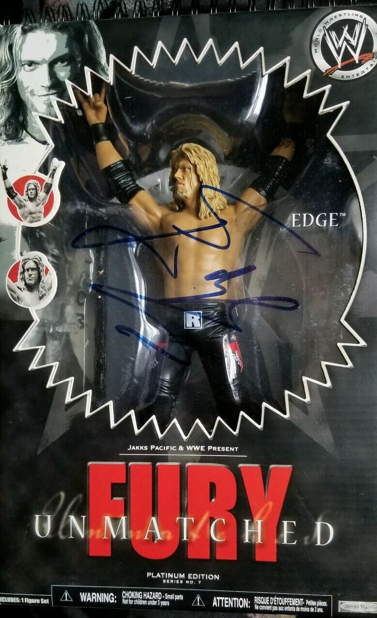 Wwe unmatched unmatched unmatched fury signed  Edge f26361