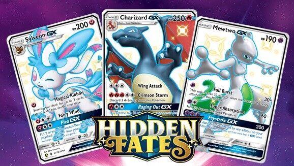 Samlekort, Pokémon, Hidden Fates 50 kort