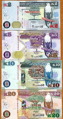 SET 2012 2013 P-New UNC /> First Prefixes Zambia 2;5;10;20 Kwacha