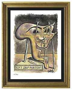 Salvador-Dali-Signed-Hand-Numbered-Ltd-Ed-034-Soft-Portrait-034-Litho-Print-unframed