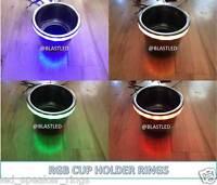 4pc Set- Rgb Led Cup Holder Light Ring Boats/rv (mastercraft, Moomba, Malibu)