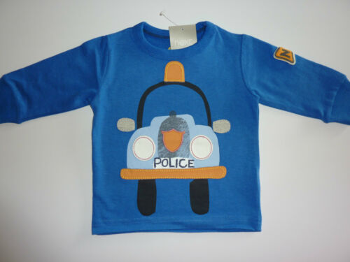 NEXT Really Cute Blue Police Car Long Sleeve Top 3-6 Months NWT