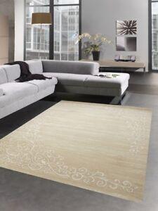 Dettagli su Tappeti moderni tappeto da salotto barocco ornamenti orientali  marrone crema