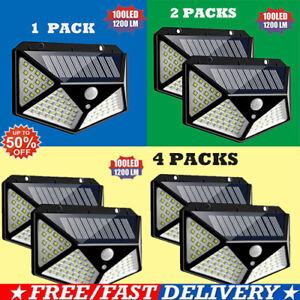 100-LED-Solar-Power-Wall-Light-PIR-Motion-Sensor-Outdoor-Waterproof-Gargen-Lamp