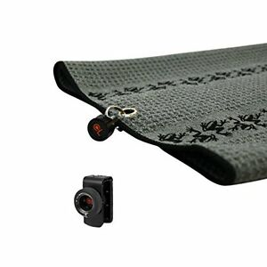 New-Frogger-TRAX-Gray-Golf-Towel-with-Latch-it-System-and-Free-Champ-Golf-Tees