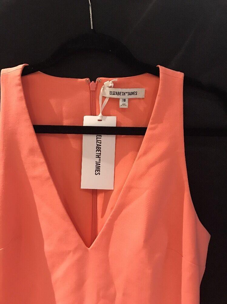 NWT Elizabeth and James James James 'Lalita' Fit & Flare Dress Tigerlily Pink [SZ 10 ]  M438 90424f