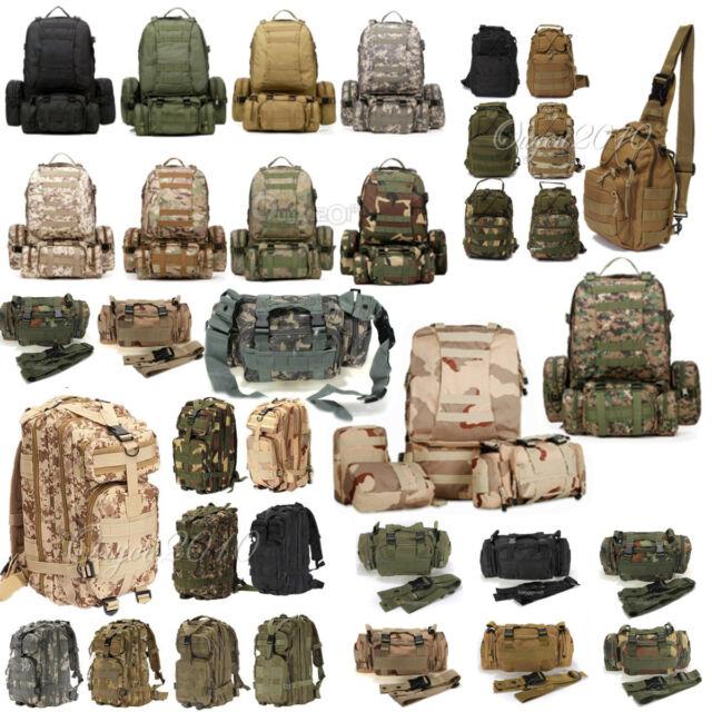 Outdoor Military Tactical Rucksack Backpack daypack Shoulder Bag Camping #123
