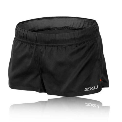 "2XU Bottines Femme GHST 2/"" Split Shorts De Course Pantalon Pantalon noir sport"