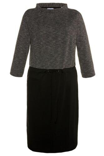 Gina Laura FASHION Kleid mit Streifen im OT schwarz NEU