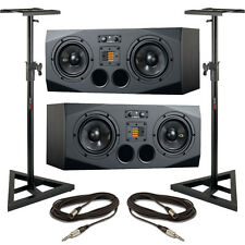 Adam A77X Pair (A + B Units) with Stands and Cables