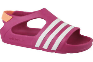 7a72781a04da adidas Originals Infant Adilette Play Sandals Pink Slip on Shoes ...