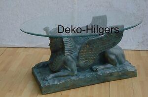 Das Bild Wird Geladen Sphinx Tisch Couchtisch Figur Tischfuss Agypten Beistelltisch Agyptisch