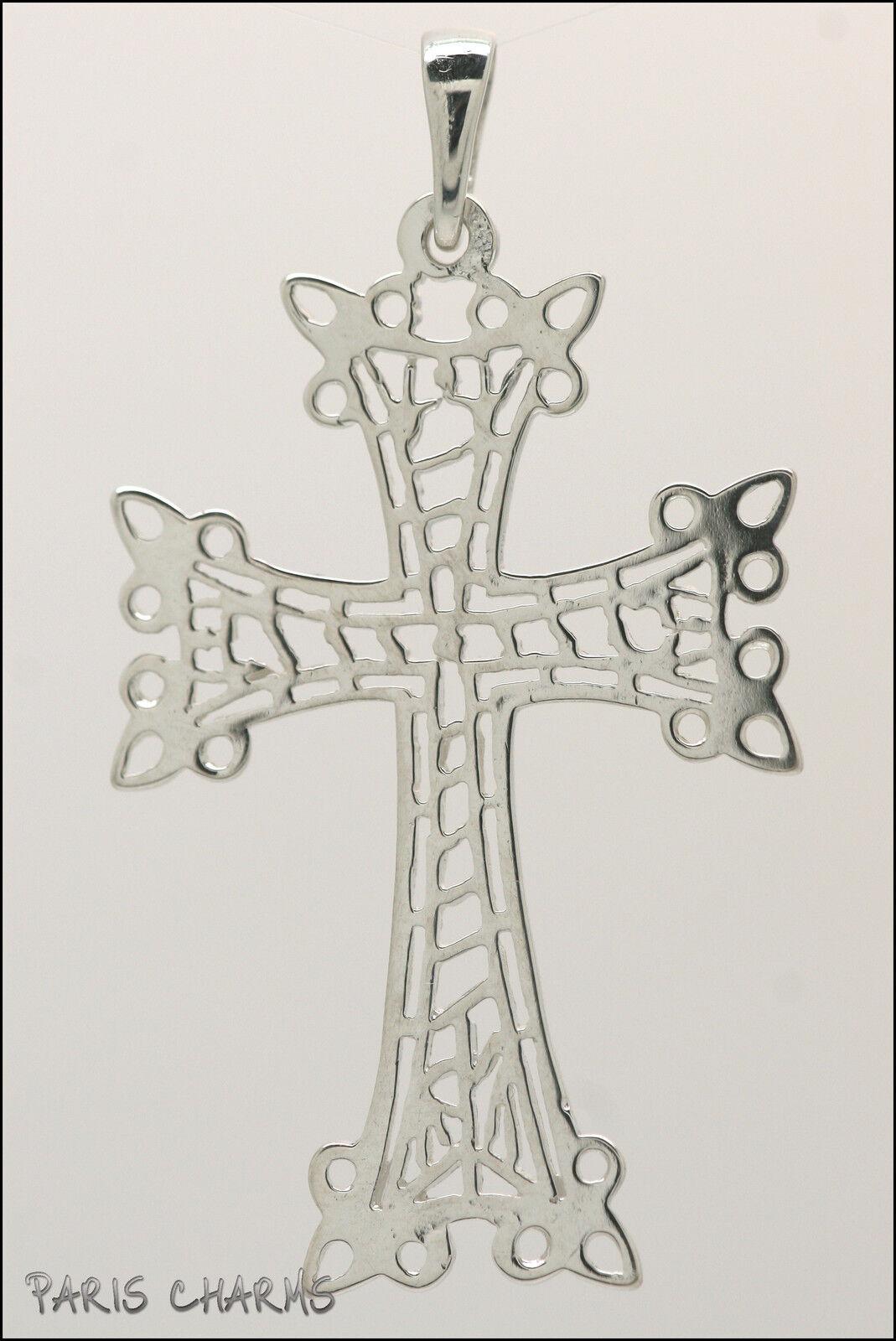 Croix arménienne en argento massif ajourée ajourée ajourée - Arménie eccd72