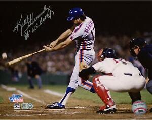 Keith Hernandez Mets Signed 8x10 86 WS Hitting Photo w/ WS Champs Insc-Fanatics