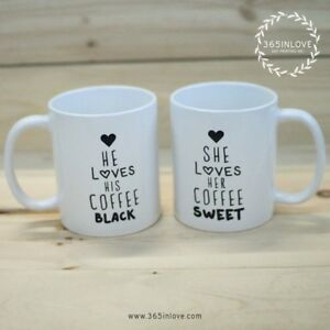 Sweet Coffee Hers About His And Personalized Details Mugsmc037 Black gfY67vby