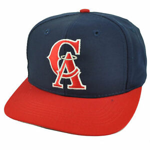 f2371ad3875 Los Angeles Angels Old School Logo Snapback Flat Bill Baseball Hat ...