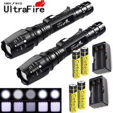 2 x T61 Ultrafire 12000 Lumens 5Modes CREE XM-L T6 LED Flashlight 18650+Charger