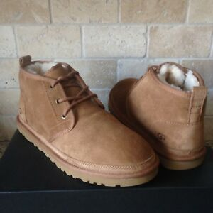 d64f1ee2293 Details about UGG Neumel Chestnut Suede Sheepskin Chukka Ankle Boots Shoes  Size US 10 Mens