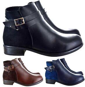 Chaussures Femme Travail Casual Smart Bureau Hiver Bottines