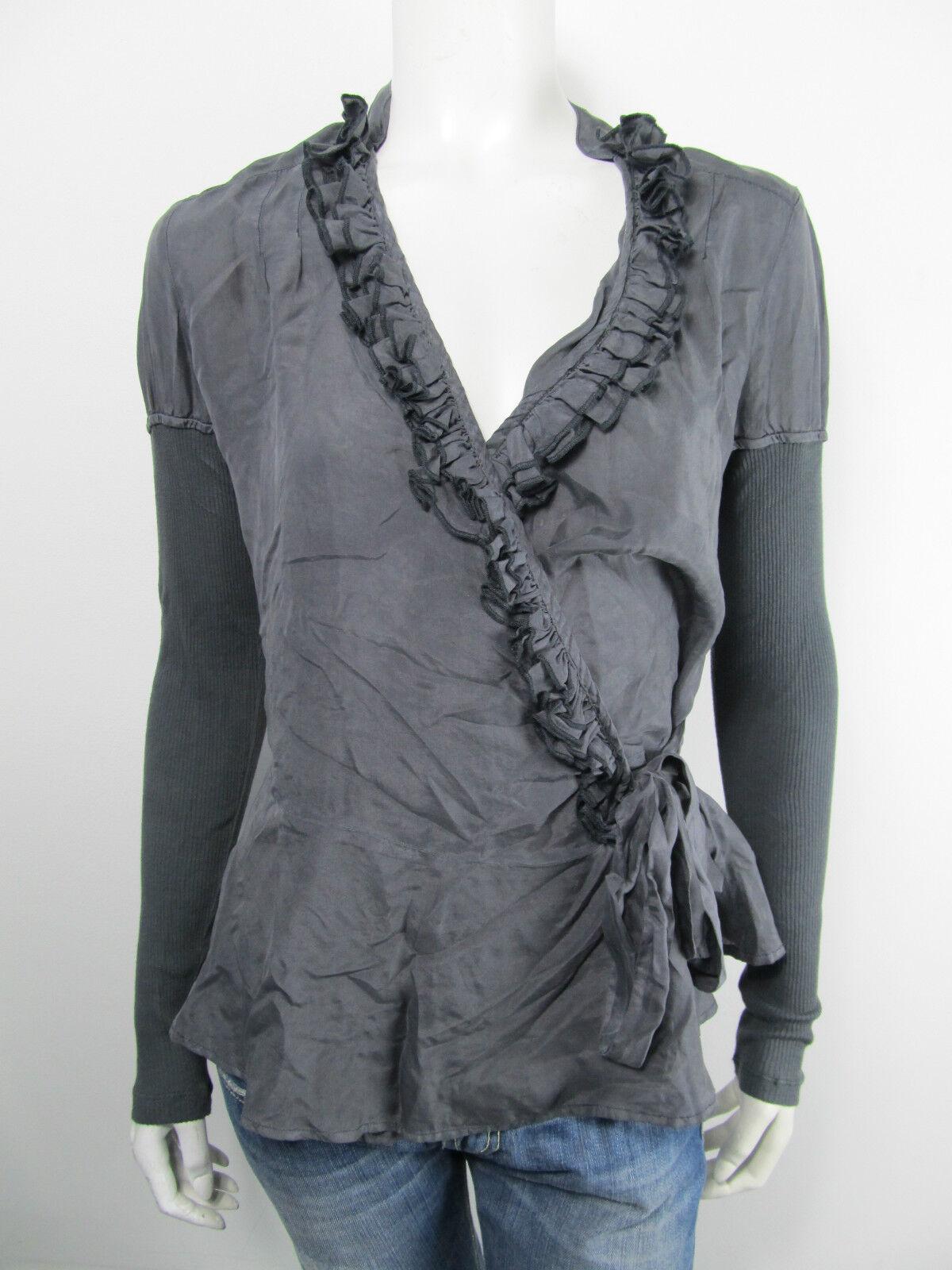 Guess bluese Bloes W14H01 Top Shirt Seide Neu grey XS S L