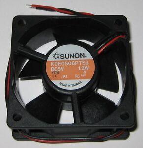 Sunon-60-mm-Quiet-Fan-w-Sleeve-Bearing-5-V-16-CFM-3300-RPM-KDE0506PTS3