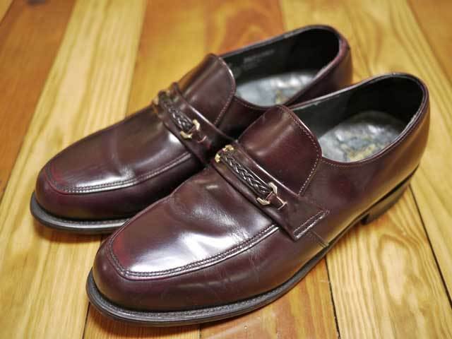 Vintage 60s Executive Imperial Leather Mens Horsebit LOAFERS USA 8C 41