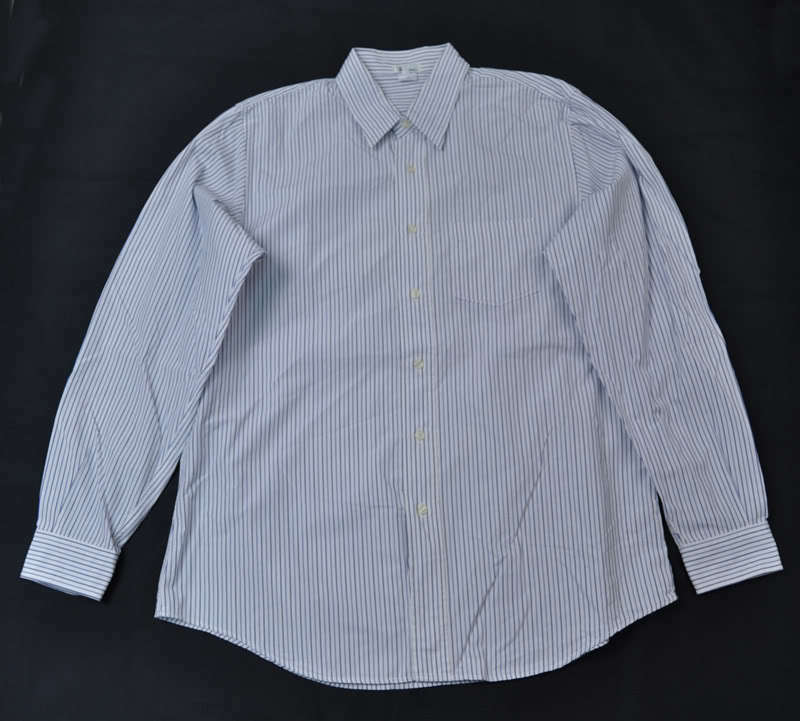 Ron Herman bluee White Stripe LS Shirt 2XL