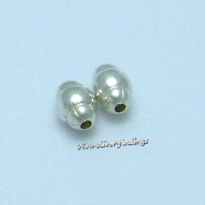 925 STERLING SILVER OVAL SPACER BEADS 3//4//5mm JEWELRY FINDINGS
