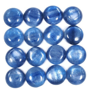 16-Pcs-Natural-Kyanite-11-8mm-Round-Cabs-Finest-Quality-Untreated-Gemstones-Lot