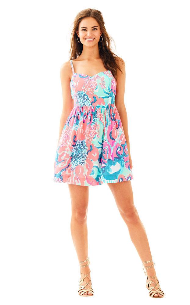 NWT Lilly Pulitzer Coral Reef I'm So Jelly Christine Dress, Sz 6,  178