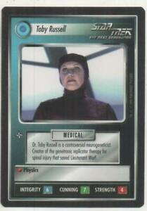 """Star Trek TNG CCG Federation UNCOMMON Card """"Toby Russell"""""""