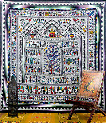 Hippie Indian Tapestry Vintage Wall Hanging Throw Bedspread Bohemian Ethnic Art