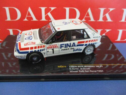 Die cast 1//43 Modellino Auto Lancia Delta Integrale 16V San Remo 1991 D Auriol