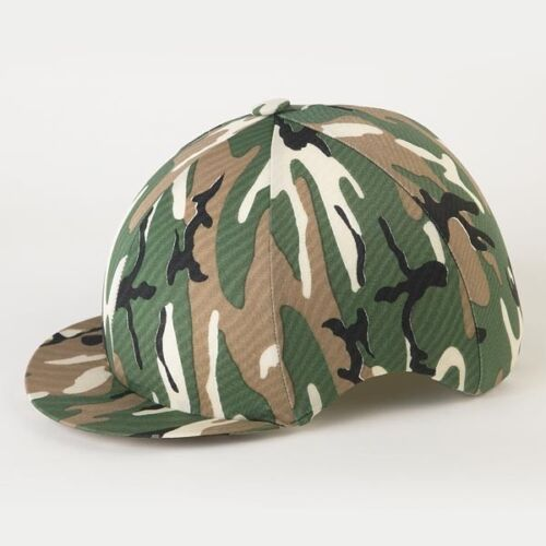 CAMOUFLAGE RIDING HAT SILK COVER FOR JOCKEY SKULL CAPS ONE SIZE