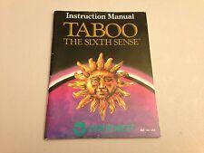 Taboo: The Sixth Sense - NES, Nintendo Instruction Booklet, Manual