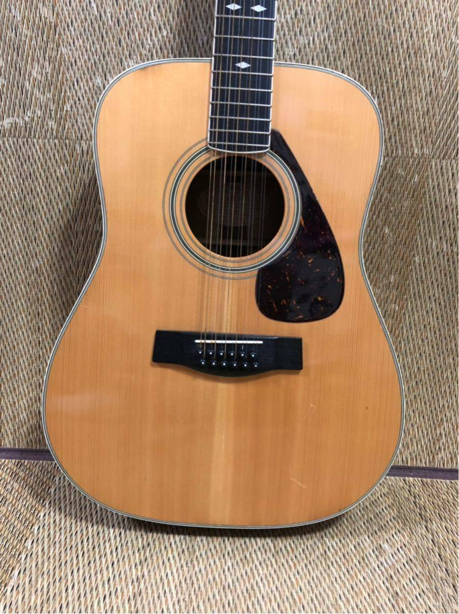 YAMAHA L12-5 12 string acoustic guitar beautiful rare EMS F S