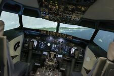 Boeing 737 flight simulator cockpit for home or business