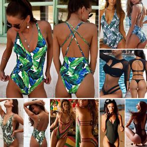 Women-One-piece-Swimsuit-Swimwear-Push-Up-Bikini-Monokini-Bathing-Suit-Beachwear