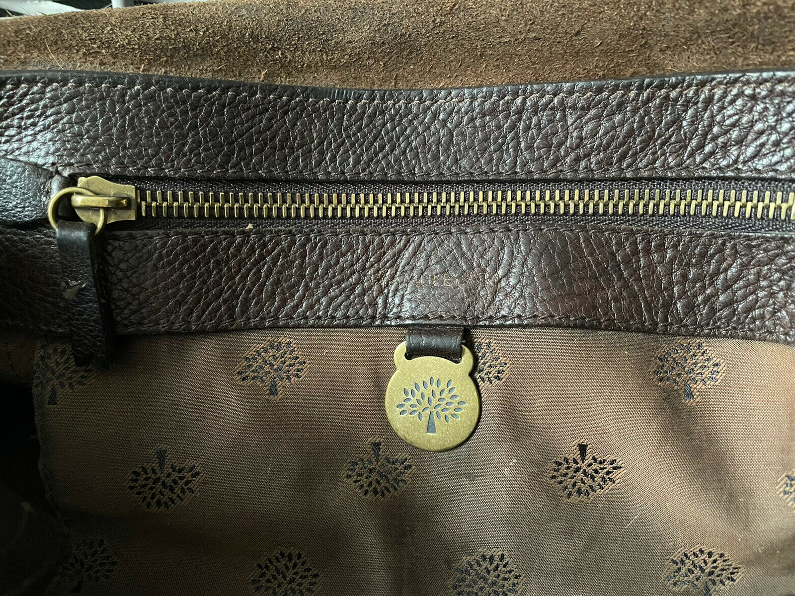 Mulberry East West Bayswater Bag Handbag Chocolate Brown Leather