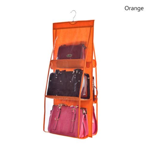 6 Taschen Staubdichte Handtasche Handtuch Hängeaufbewahrung Organisator Regal 0