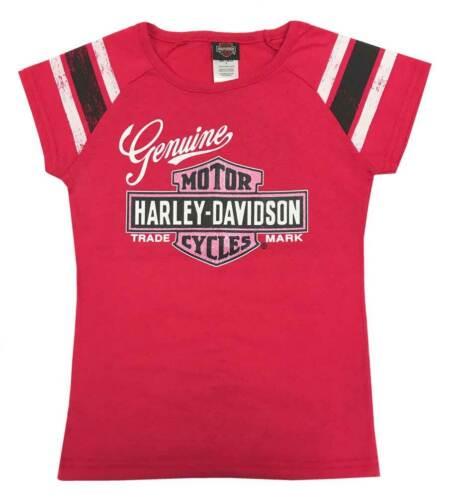 Pink 2T Details about  /Harley-Davidson Little Girls/' Glitter Genuine B/&S Short Sleeve Tee