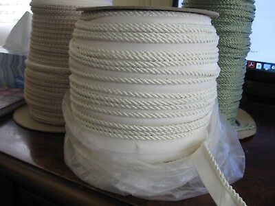 """By The Yard Beige Ivory Lt Green 3//16/"""" Decorative Rope Cord Sandstone"""