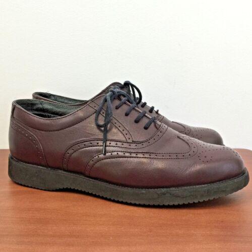 Scarpe Vibram in punta scarpe Scholls 11 pelle oxford Vtg M scamosciata bordeaux Dr Uomo Pelle 1XwYvx