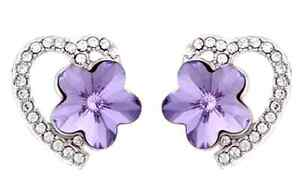 Swarovski-20676-Lavender-Crystal-Flower-Heart-Earrings-By-ZUMQA-COD-PAYPAL