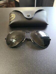 Ray Ban Aviador Gafas De Sol Rb3025 Marco Negro Lentes Negras Ebay